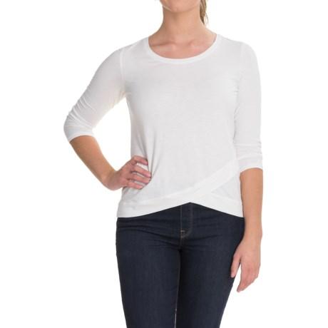 Lucy & Laurel Crossover Hem Shirt - 3/4 Sleeve (For Women)