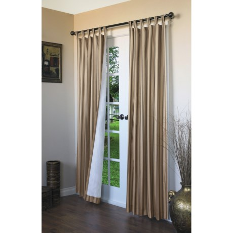 """Thermalogic Weathermate Stripe Curtains - 80x84"""", Tab-Top, Insulated"""
