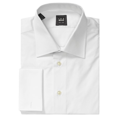 Ike Behar Solid Twill Dress Shirt - French Cuff, Long Sleeve (For Men)