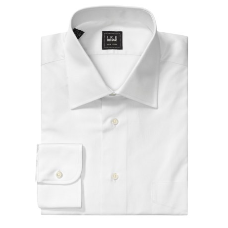 Ike Behar Cotton Dress Shirt - Spread Collar, Long Sleeve (For Men)
