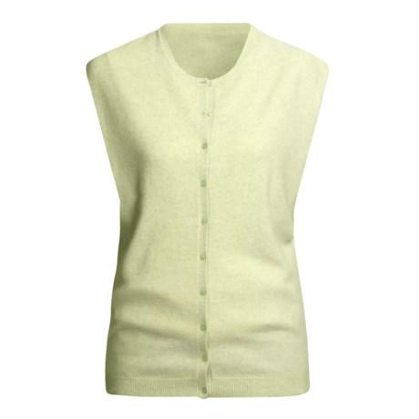 Karoo Cashmere Vest - Button Front (For Women)