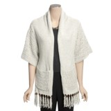 Lauren Hansen Fringed Kimono Scarf - Tape Yarn (For Women)
