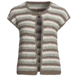 Lauren Hansen Striped Cardigan Sweater - Tape Yarn, Crocheted (For Women)