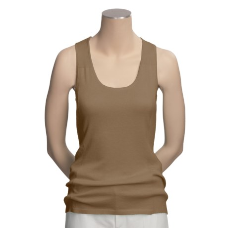 Lauren Hansen Racerback Knit Tank Top - Placed Ribs (For Women)