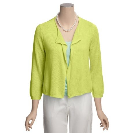 Lauren Hansen Cardigan Sweater - Cascading Front (For Women)