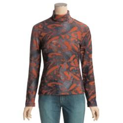 Sno Skins Brushed Print Novelty Turtleneck - Long Sleeve (For Women)