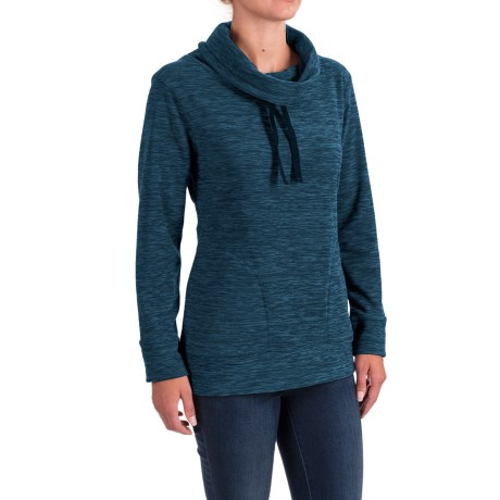 Stillwater Supply Co. Optic Fleece Shirt - Cowl Neck, Long Sleeve  (For Women)