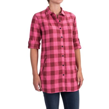 Stillwater Supply Co . Buffalo Plaid Flannel Tunic Shirt - Long Sleeve (For Women)