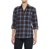 Stillwater Supply Co . Flannel Shirt with Velvet Trim - Long Sleeve (For Women)