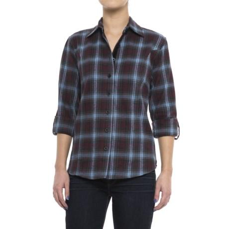 Stillwater Supply Co . Flannel Shirt with Velvet Trim - Long Sleeve (For Women)