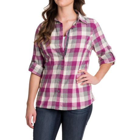 Stillwater Supply Co . Bold Stripe Flannel Shirt - Velvet Trim, Long Sleeve (For Women)