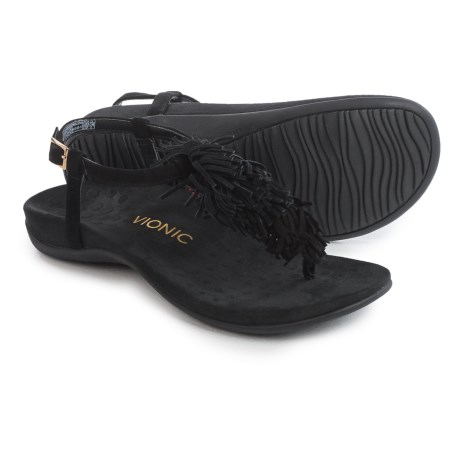 Vionic with Orthaheel Technology Sosha Sandals - Suede (For Women