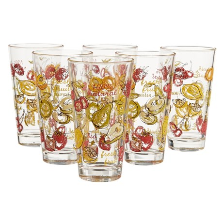 Global Amici Fresh Fruit Glasses - 16 fl.oz., Set of 6