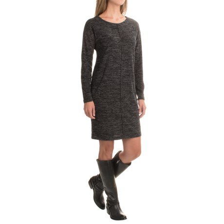 Heathered Cotton Dress - Long Sleeve (For Women)