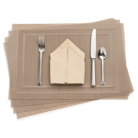 KAF Home Moderne Placemat with Border - Set of 4