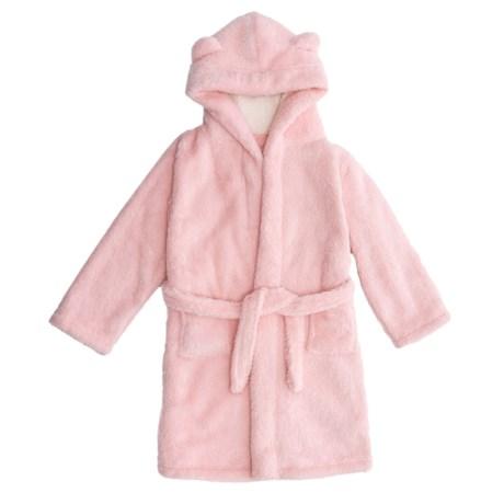 Kings n Queens Kings N Queens Sherpa Teddy Bear Bath Robe - Long Sleeve (For Little and Big Girls)