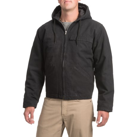 Work Horse Washed Hooded Jacket - Insulated (For Men)