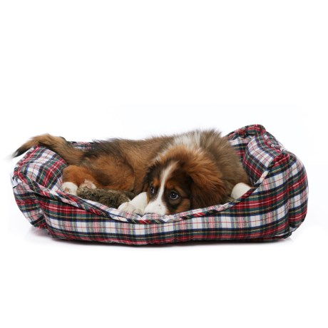 Williamstown Home Campbell Plaid Reversible Cuddler Dog Bed - 24x19""