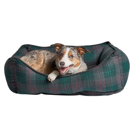 Telluride Seattle Plaid Reversible Cuddler Dog Bed - 28x22""