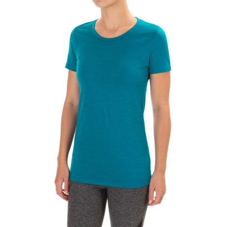 Icebreaker Tech Lite Crewe Shirt - Merino Wool, Short Sleeve (For Women)