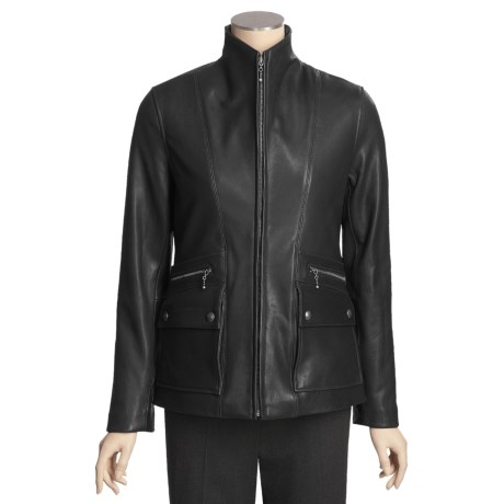 Tibor Leather New Zealand Lamb Jacket - Insulated Zip-Out Liner (For Women)