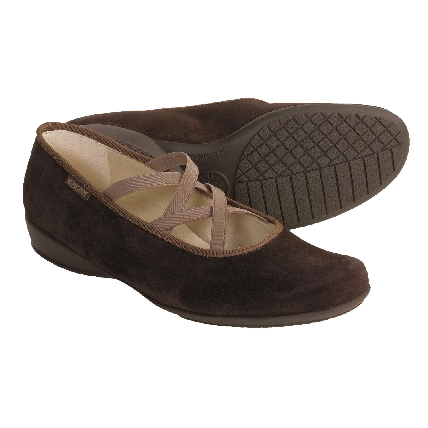 Unique Mephisto Klarina Shoes  Leather SlipOns For Women In Dk Brown