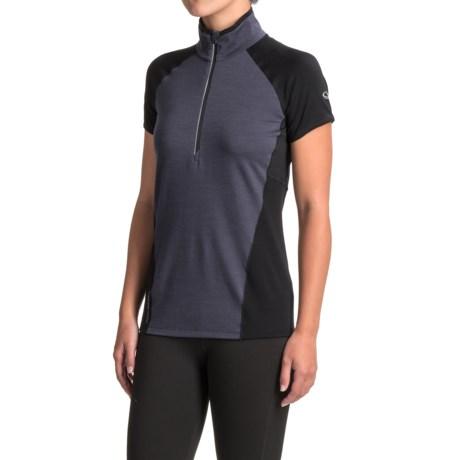 Icebreaker Spark Shirt - Merino Wool, Zip Neck, Short Sleeve (For Women)