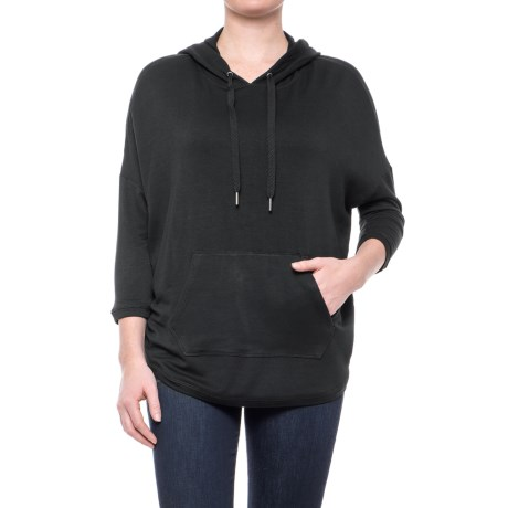 Workshop Republic Clothing French Terry Drop Shoulder Hoodie - 3/4 Sleeve (For Women)