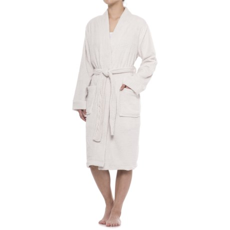 Berkshire Blanket Day Dream Waffle Robe and Throw Blanket (For Women)