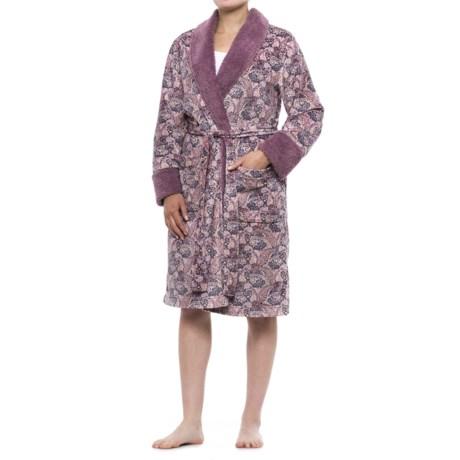 Berkshire Blanket DayDream Paisley Suede-Mink Robe - Long Sleeve (For Women)