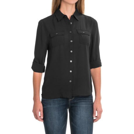 Workshop Republic Clothing Chiffon Button-Down Shirt - Long Sleeve (For Women)