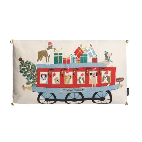 "Telluride Max Studio Dog Train Decorative Pillow - 14x24"""