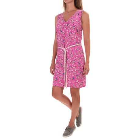 G.H. Bass & Co. Belted Sheath Dress - Rayon, V-Neck, Sleeveless (For Women)