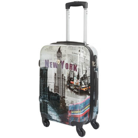DeJuno Dejuno New York Collection Spinner Suitcase - Hardside, 24""