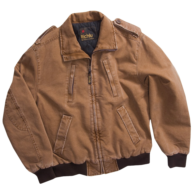 Richlu Cotton Canvas Bomber Jacket For Men 2772y Save 50