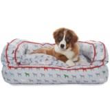 """Humane Society Mono Multi-Dog Bolster Dog Bed - 36x27"""""""