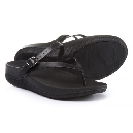 FitFlop Flip Leather Sandals - Rotating Back Strap (For Women)