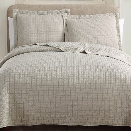 S.L. Home Fashions Hill & Holmes Stonewashed Quilt Set - Queen