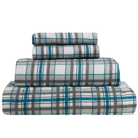S.L. Home Fashions Johan Plaid Flannel Sheet Set - King