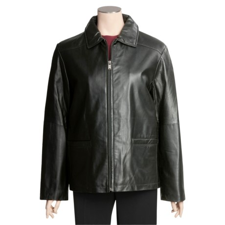 Columbia Sportswear Lamb Leather Jacket - Straight Bottom (For Women)