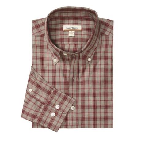 Barry Bricken Sport Shirt - Cotton Plaid, Long Sleeve (For Men)
