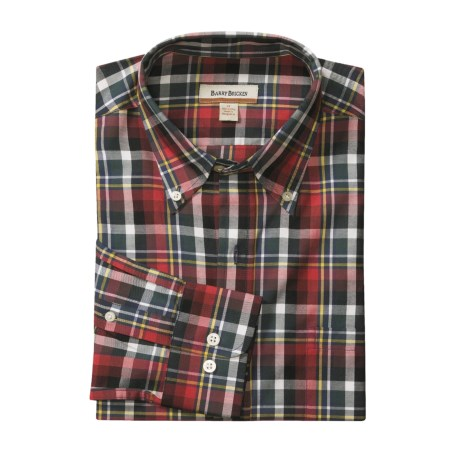 Barry Bricken Plaid Sport Shirt - Button Down, Long Sleeve (For Men)