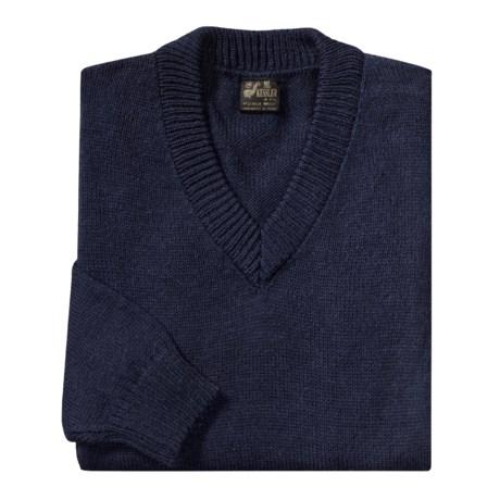 ML Kessler Sweater - Alpaca Wool, V-Neck (For Men)