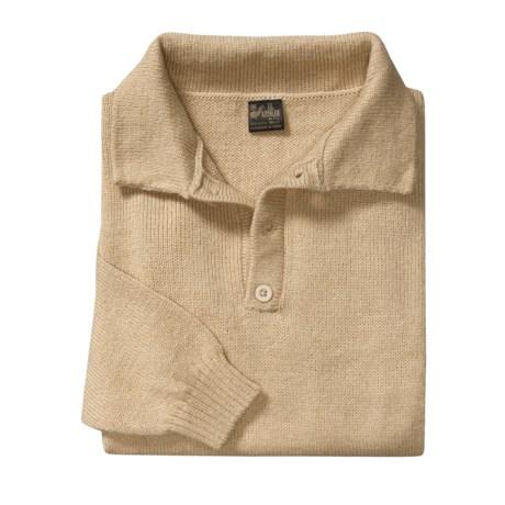 ML Kessler Alpaca Wool Sweater - 3-Button Collar (For Men)