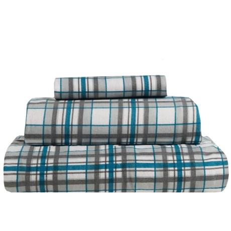 S.L. Home Fashions Johan Plaid Flannel Sheet Set - Twin