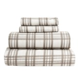 S.L. Home Fashions Julian Plaid Flannel Sheet Set - King