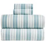 S.L. Home Fashions Vincent Stripe Flannel Sheet Set - Full