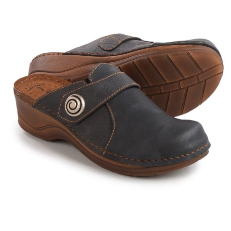Flexus Danton Clogs - Vegan Leather, Open Back (For Women)