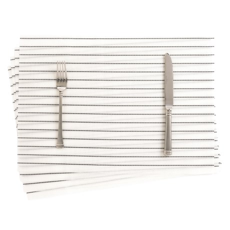 THRO Stripe Textaline Placemats - Set of 4