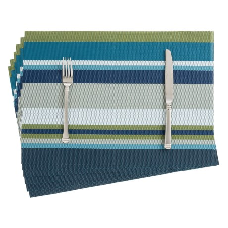THRO Bold Stripe Textaline Placemats - Set of 6